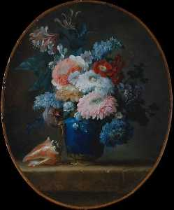 Anne Vallayer Coster - Vase of Flowers and Conch Shell