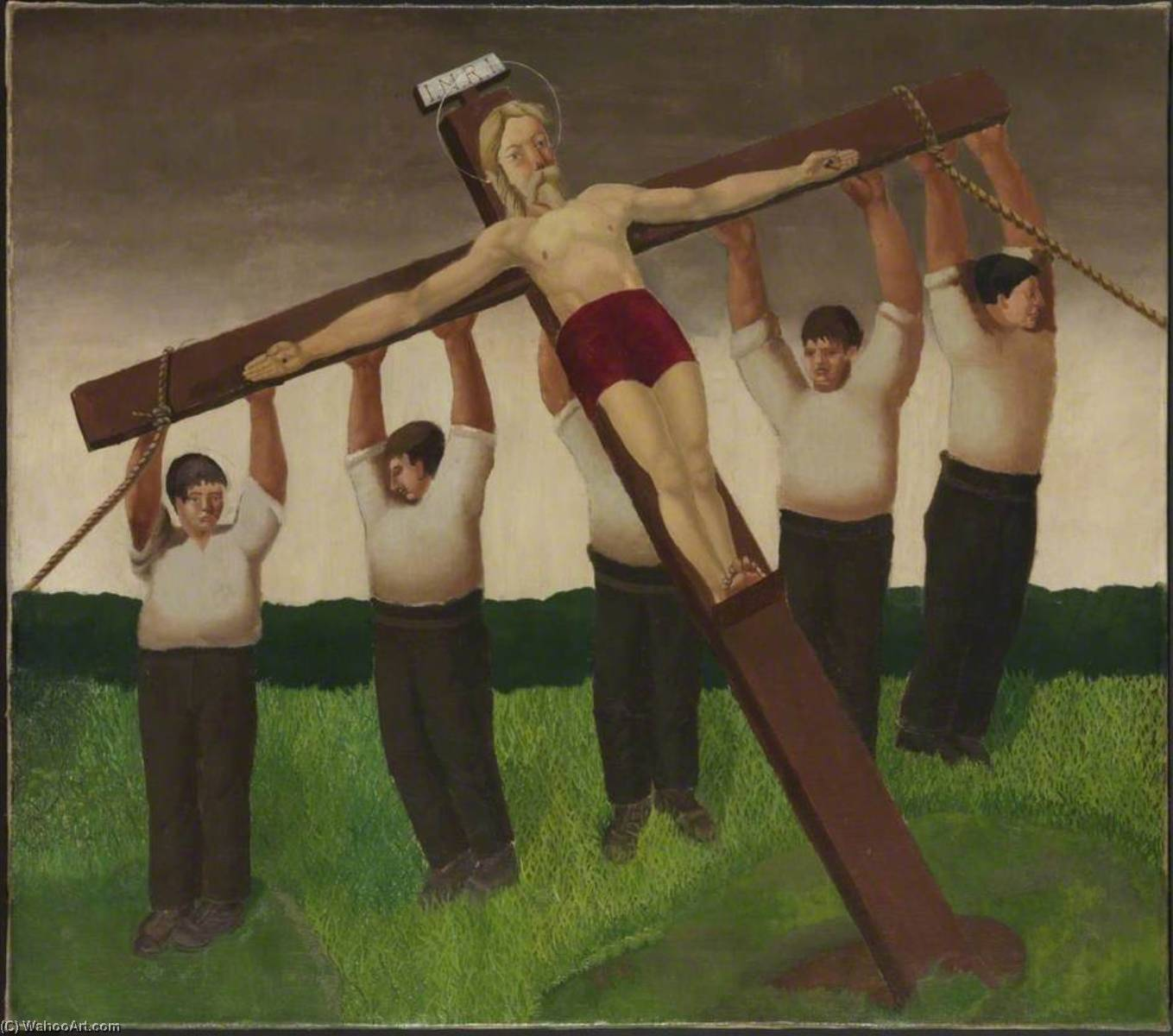 The Crucifixion, Oil On Canvas by Gilbert Spencer (1892-1979, United Kingdom)