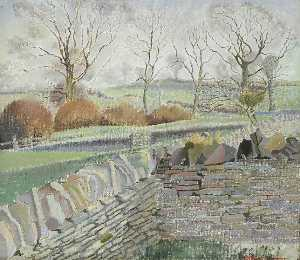 Gilbert Spencer - Cotswold Meadows