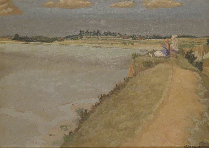 Pegwell Bay, Kent, 1921 by Gilbert Spencer (1892-1979, United Kingdom) | Museum Quality Reproductions | WahooArt.com