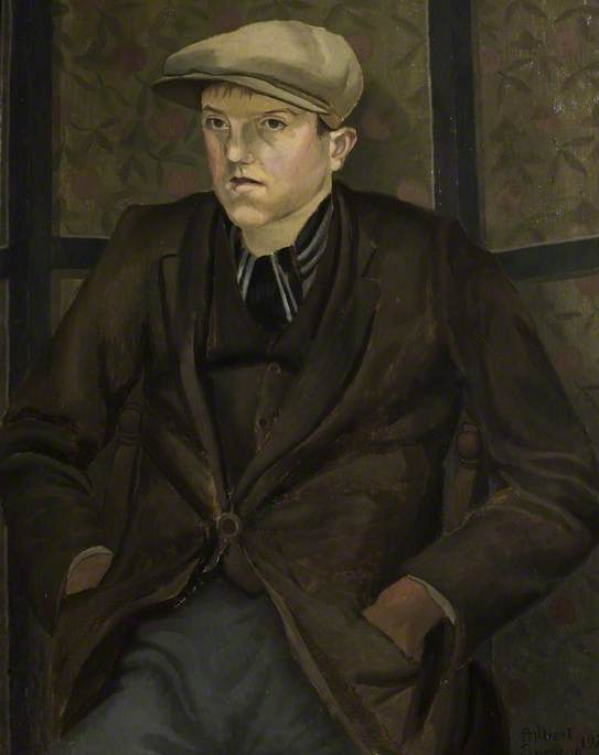 Portrait of a Youth, Oil On Canvas by Gilbert Spencer (1892-1979, United Kingdom)