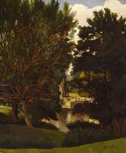 Gilbert Spencer - Mill Pond, Durweston
