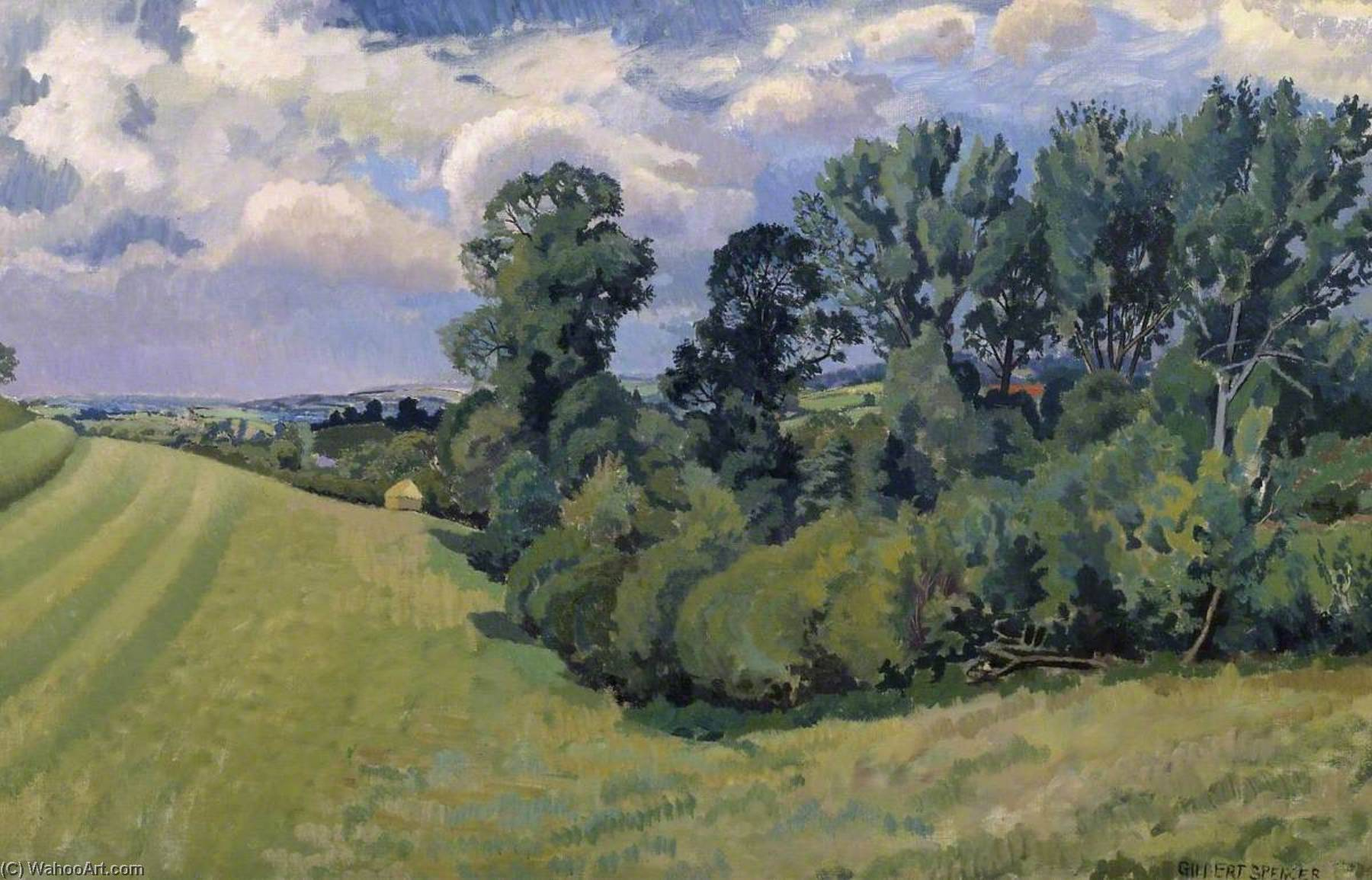 Blackmore Vale from Compton Abbas, Oil On Canvas by Gilbert Spencer (1892-1979, United Kingdom)