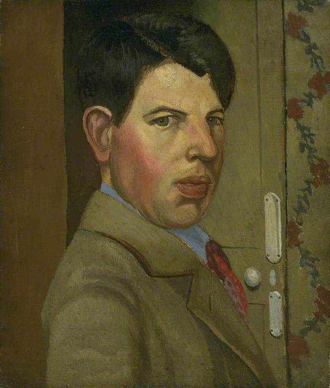 Self Portrait, Oil On Canvas by Gilbert Spencer (1892-1979, United Kingdom)