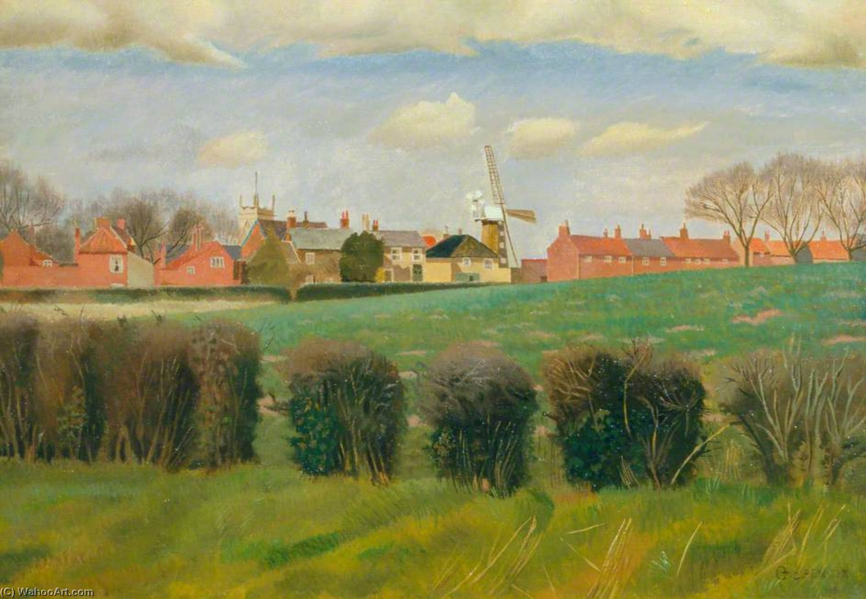 Wangford, 1934 by Gilbert Spencer (1892-1979, United Kingdom) | Museum Quality Reproductions | WahooArt.com