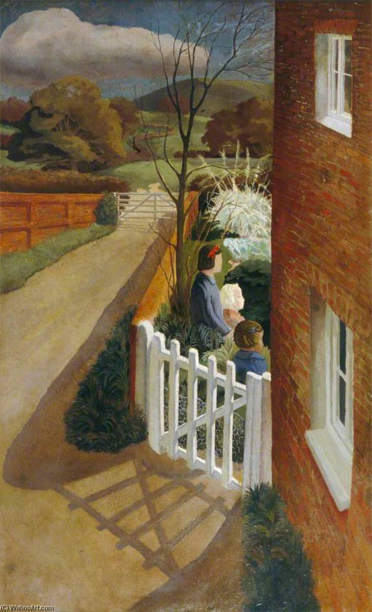 Air Raid Warning, Oil On Canvas by Gilbert Spencer (1892-1979, United Kingdom)