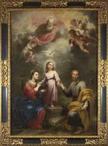 Bartolome Esteban Murillo - The Heavenly and Earthly Trinities (The Pedroso Murillo)