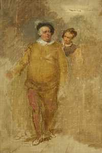 George Clint - William Downton as Falstaff and George Smith as Bardolph in 'Henry IV', Part I