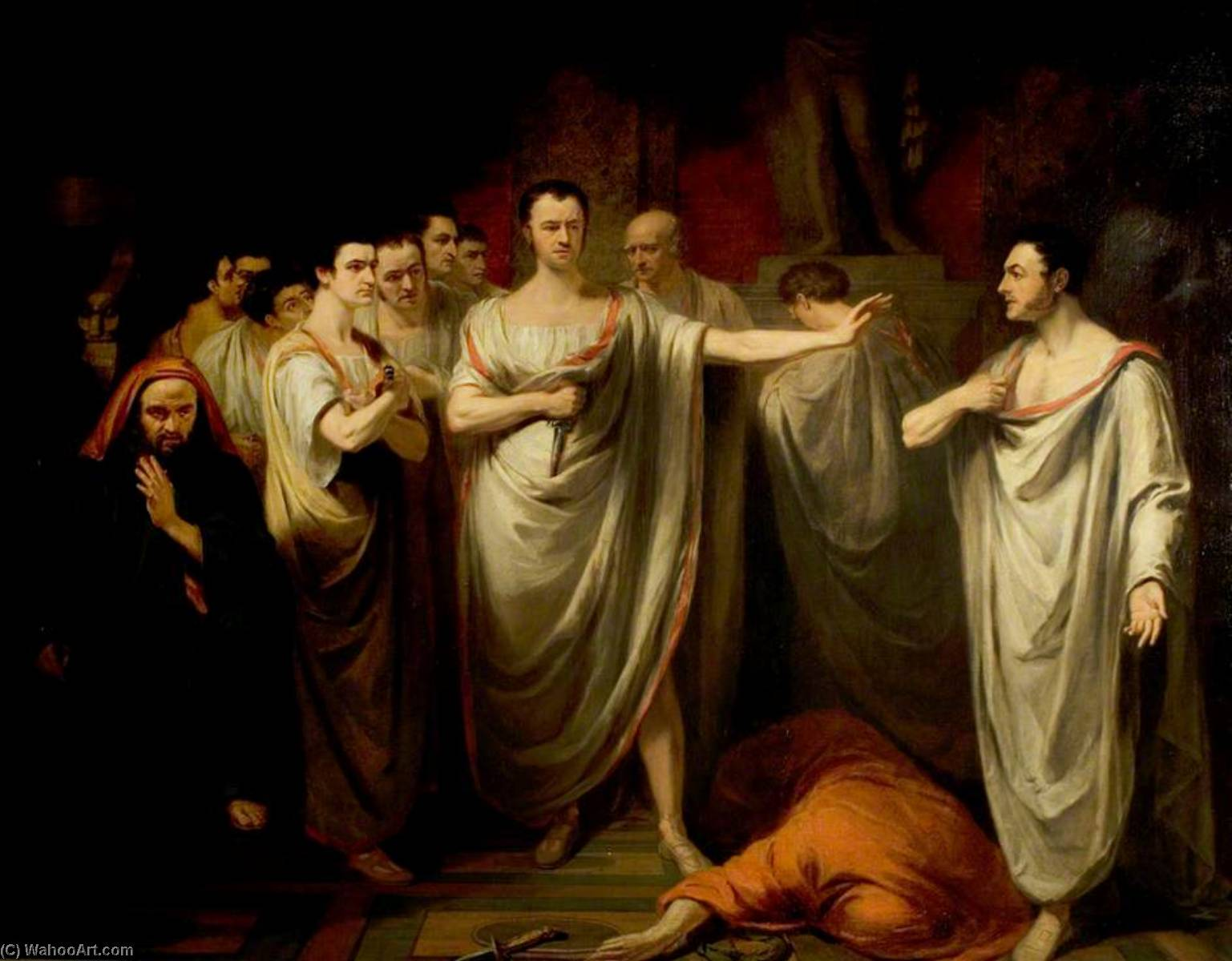 an examination of the scenes in the play julius caesar