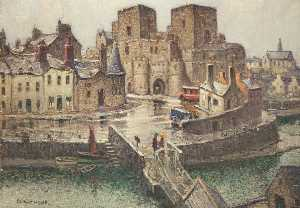 William Hoggatt - Castle Rushen from the Bridge House
