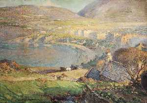 William Hoggatt - View across Port Erin Bay