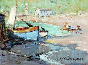 William Hoggatt - Small Harbour with Boats
