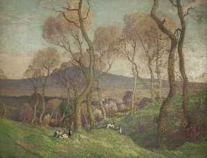 William Hoggatt - South Barrule from above Glendower