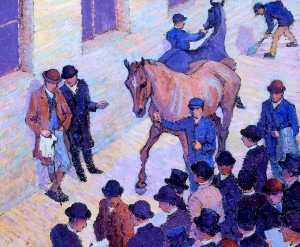 Robert Polhill Bevan - A Sale at Tattersalls