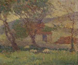 Robert Polhill Bevan - In the Downs near Lewes