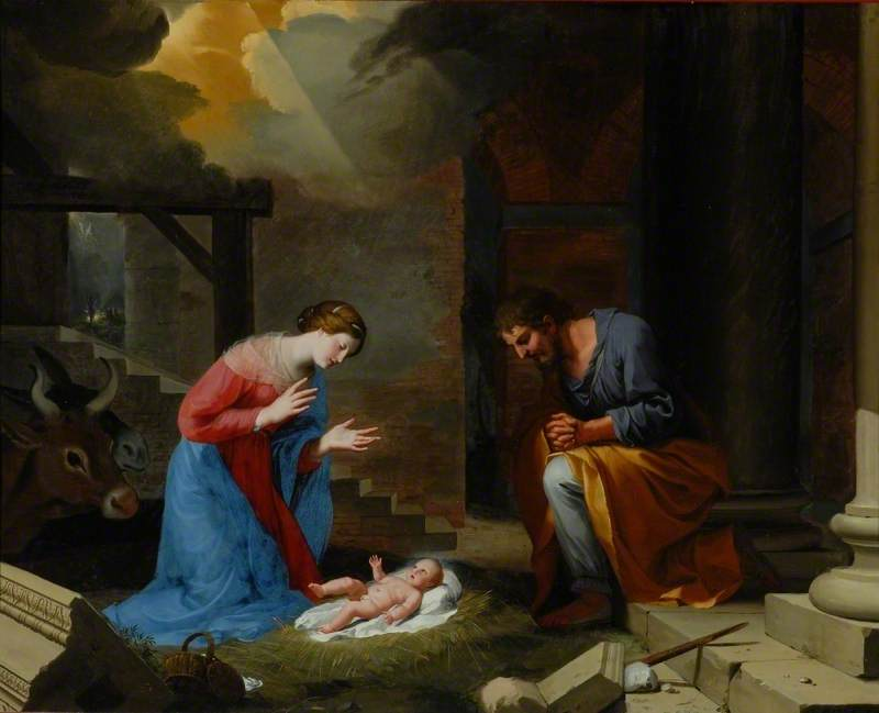The Nativity, 1639 by Jacques De Stella (1596-1657) | Reproductions Jacques De Stella | WahooArt.com