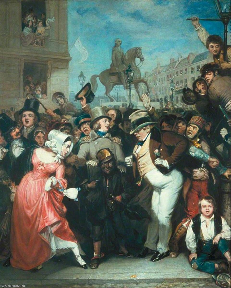 The Crowd, 1847 by Robert William Buss (1804-1875, United Kingdom) | Paintings Reproductions Robert William Buss | WahooArt.com