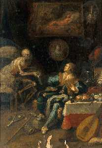 Frans Iii Francken - A Voluptuary Surprised by Death