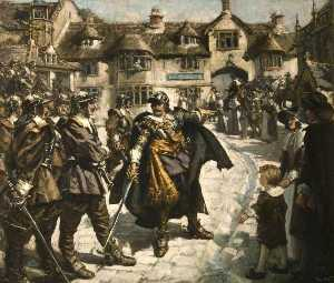 Francis Henry Newbery - The Escape from Bridport, Dorset, of Charles II after the Battle of Worcester, September 1651
