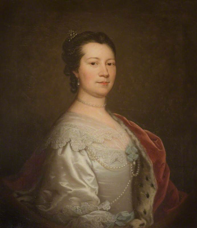 Portrait of a Lady (possibly of the Nassau de Zuylestein family), 1735 by Thomas Bardwell | Art Reproductions Thomas Bardwell | WahooArt.com