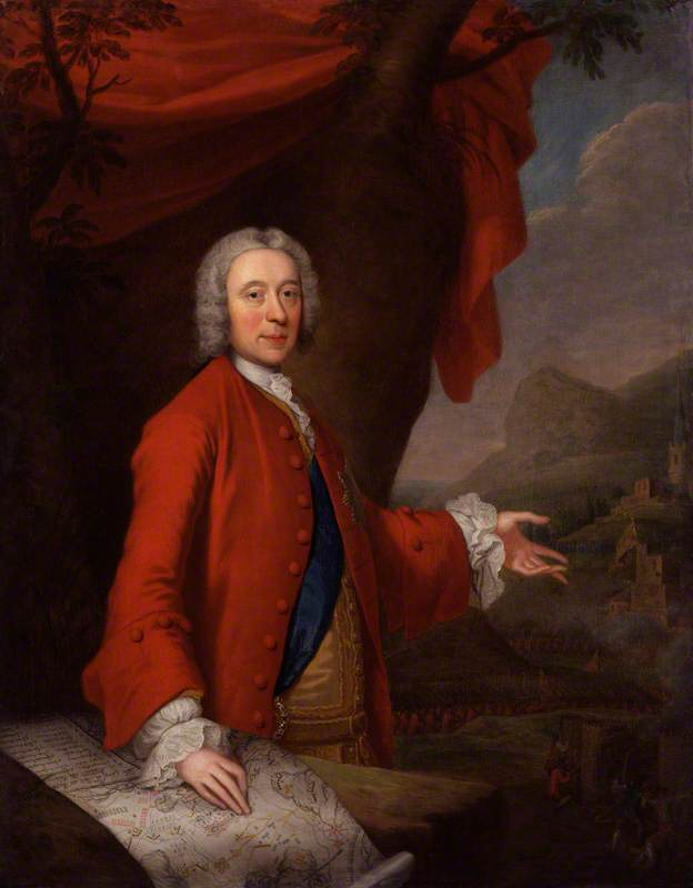 John Campbell, 2nd Duke of Argyll and Duke of Greenwich, 1740 by Thomas Bardwell | Reproductions Thomas Bardwell | WahooArt.com