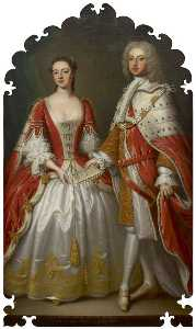 Thomas Bardwell - Thomas Fermor, 1st Earl of Pomfret, and Henrietta Louisa, Countess of Pomfret
