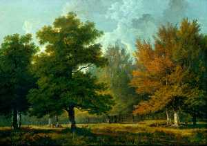 George Barret The Elder - Landscape, Woodland Scene