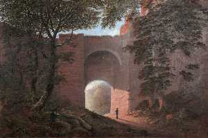 James Nasmyth - Robert Burns at Rosslyn Castle (painted from a sketch by the artist's father, Alexander Nasmyth)