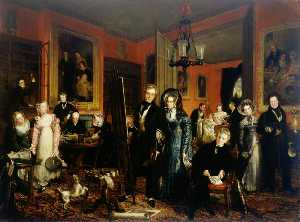John Partridge - The Artist and His Family in Their House at 21 Brook Street, Grosvenor Square, London