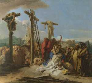 Giandomenico Tiepolo - The Lamentation at the Foot of the Cross