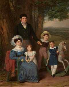 Edward Villiers Rippingille - Reginald Henry Bean (d.1848), His Wife and Children