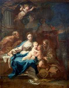 Sebastiano Conca - Holy Family with Saint Anne, the Baptist and Zacharias