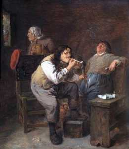 Adriaen Brouwer - The Smokers