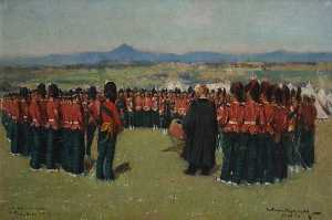 William Joseph Kennedy - Church Parade of the 3rd Battallion Argyll and Sutherland Highlanders