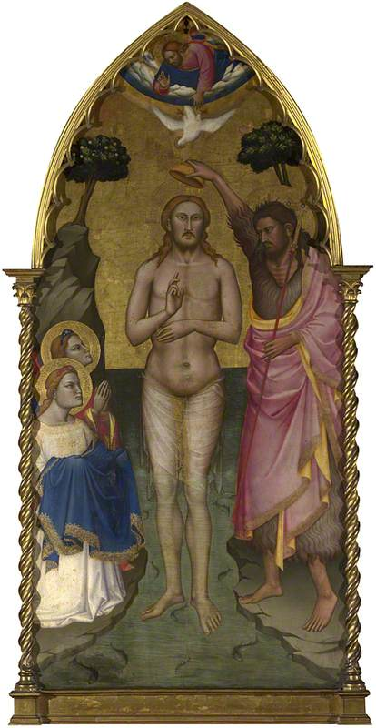 The Baptism of Christ Main Tier Central Panel, Tempera by Niccolò Di Pietro Gerini (1368-1415, Italy)