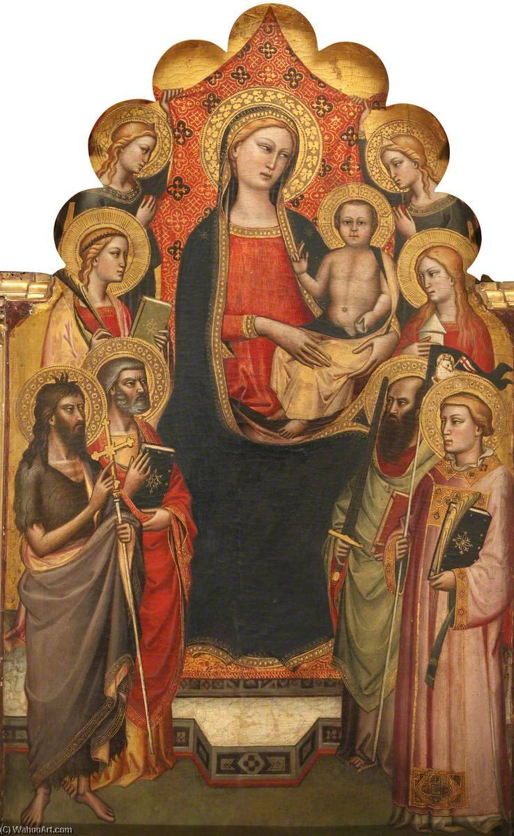 Madonna and Child Enthroned, Gold by Niccolò Di Pietro Gerini (1368-1415, Italy)