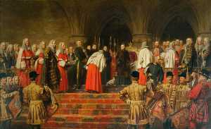 Henry Tanworth Wells - Queen Victoria Opening of the Royal Courts of Justice, 1882