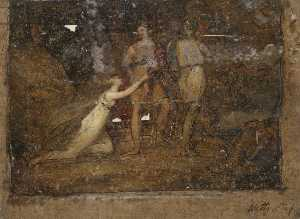 Frederick Waters (William) Watts - Classical Scene from 'Tasso'