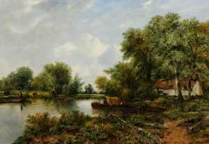 Frederick Waters (William) Watts - A Quiet Backwater in Suffolk