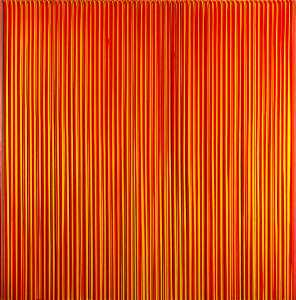 Ian Davenport - Poured Lines, Light Red, Green, Blue, Yellow, Orange, Yellow, Red