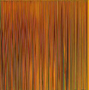 Ian Davenport - Poured Lines Light Orange, Blue, Yellow, Dark Green and Orange