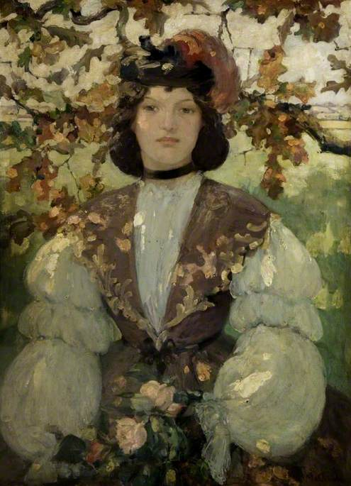 A Girl of the Sixties, 1900 by Bessie Macnicol (1869-1904, United Kingdom) | Museum Art Reproductions Bessie Macnicol | WahooArt.com