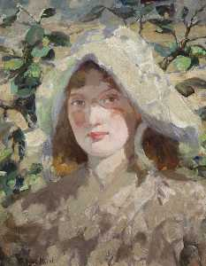 Bessie Macnicol - Young Woman in a Sun Bonnet