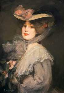 Bessie Macnicol - Portrait of a Lady Phyllis in Town