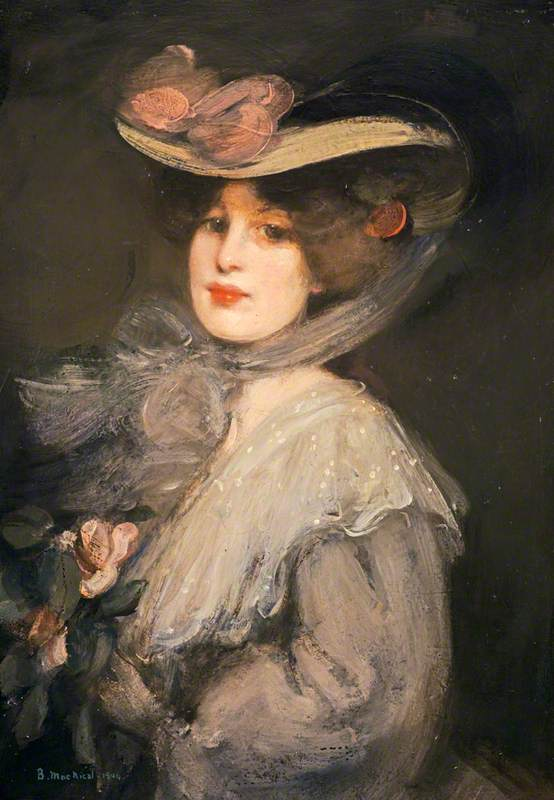 Portrait of a Lady Phyllis in Town, 1904 by Bessie Macnicol (1869-1904, United Kingdom) | Museum Art Reproductions Bessie Macnicol | WahooArt.com