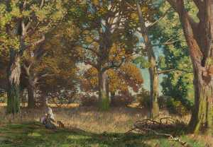 Thomas Corsan Morton - Woods in Autumn