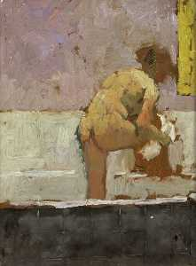 Bernard Dunstan - The Bathroom