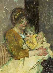 Bernard Dunstan - Mother and Child