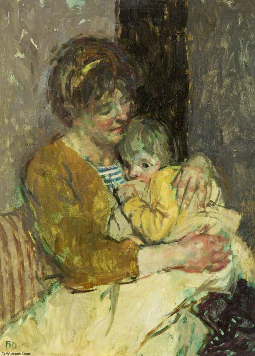 Mother and Child by Bernard Dunstan (1920-2017, United Kingdom) |  | WahooArt.com
