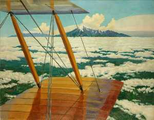 Richard Carline - Mount Hermon and Mount Sannin above the Clouds